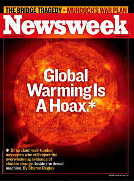 "Newsweek Cover: ""Global Warming is a Hoax*"